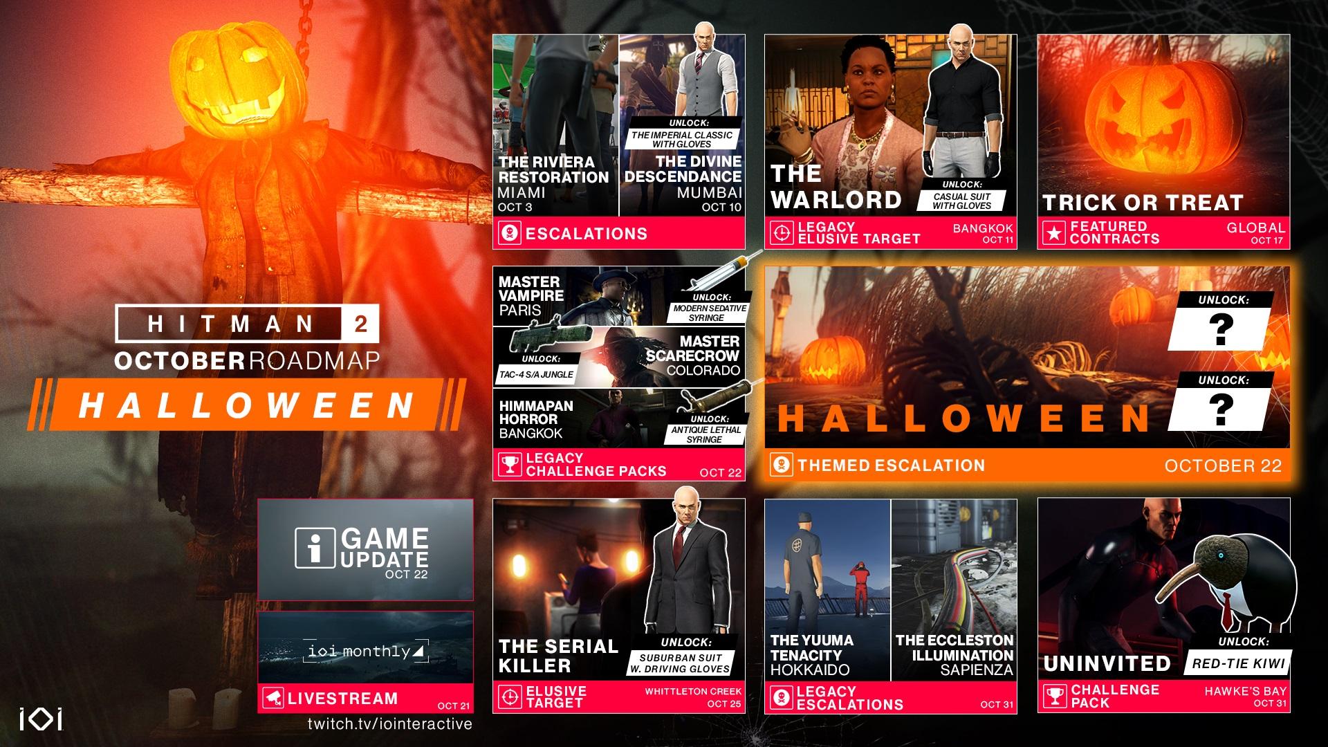 Hitman 2 получает множество костюмов и миссий на Хэллоуин