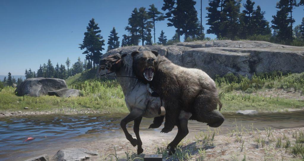 Этот мод Red Dead Redemption 2 позволяет медведям кататься на лошадях