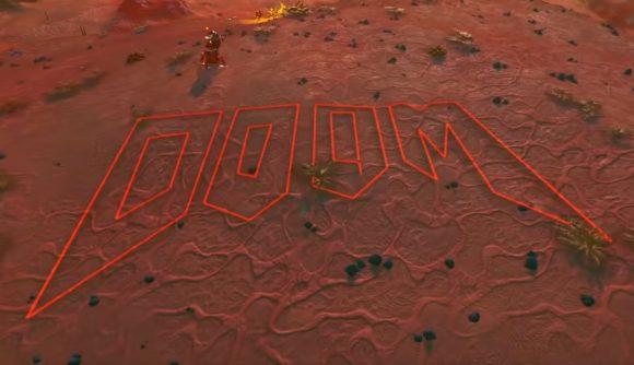 Совершите экскурсию по классической карте Doom E1M1, воссозданной в No Man's Sky