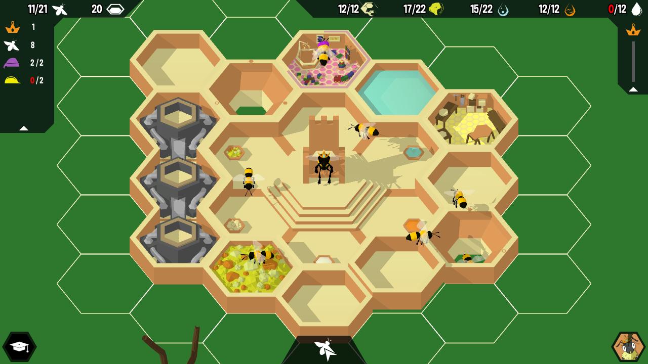 Создайте процветающий улей в бесплатной игре по управлению пчелами Hive Time