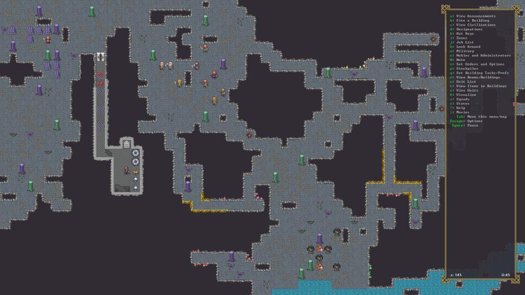 Dwarf Fortress симулирует мета-сознание, гномы понимают, что находятся внутри симуляции