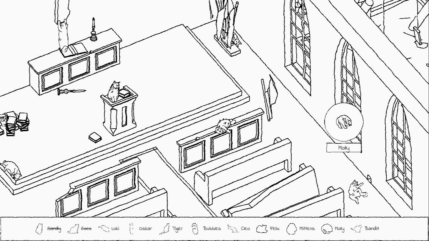 Играйте в Where's Moggy в бесплатной браузерной игре Hidden Cats