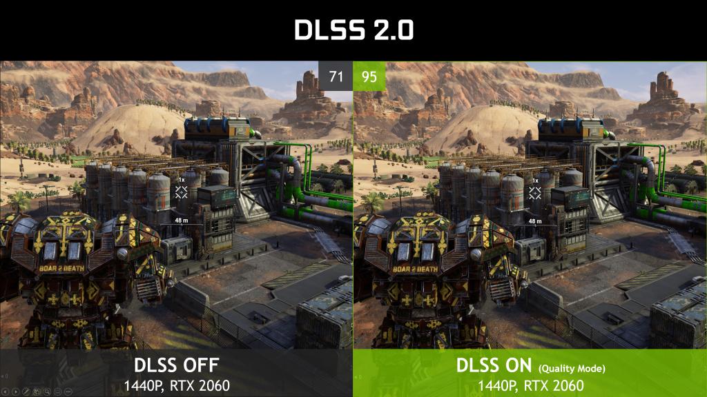 Карты Nvidia RTX получают сверхлегкое повышение скорости от DLSS 2.0
