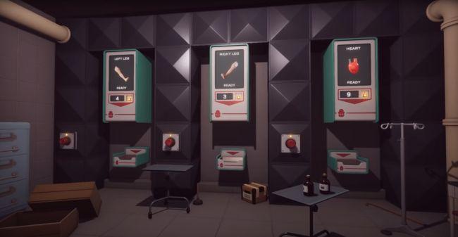Трейлер Surgeon Simulator 2 включает в себя торговые автоматы с частями тел