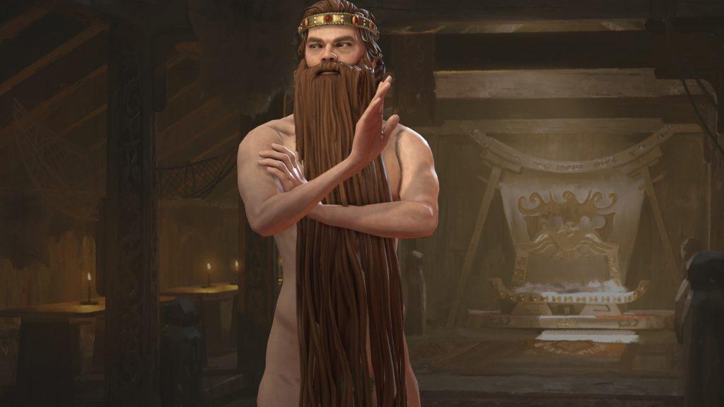 С этим модом для бороды волшебника в Crusader Kings 3 нет необходимости в одежде