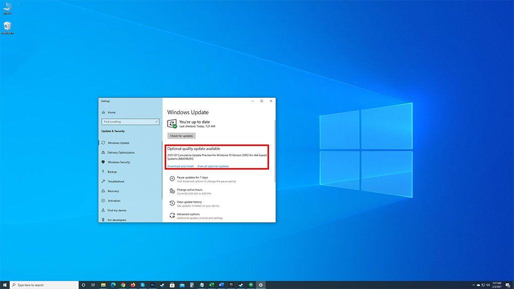 Поиграйте с этим дополнительным обновлением Windows 10, если во время игры вылетает компьютер