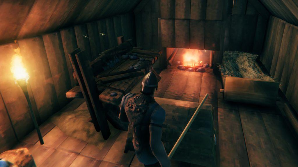 Valheim: как развести костер в помещении